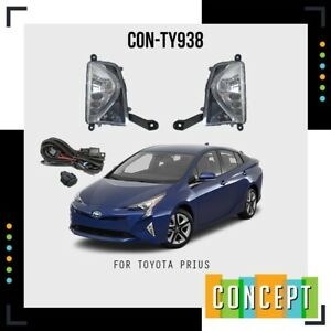 For 2016 2017 2018 Toyota Prius LED DRL Fog Lights Bumper Lamps W/ Switch Pair