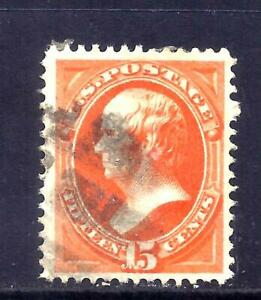 US Stamps - #163 - USED - 15 cent Webster Issue  - CV  $150 - nicely centered