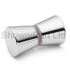 Shower Door Handle/Knob Chrome Plated Zinc Alloy Cone Shaped L050