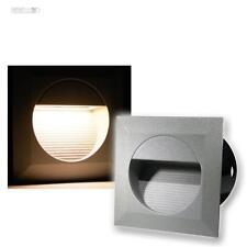 5x LED Lampade da parete incasso Riflettori Luce scale Esterno & 230V