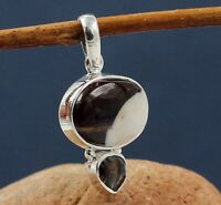 Solid 925 Sterling Silver Jewelry Smoky Quartz Agate Gemstone Gift Pendant