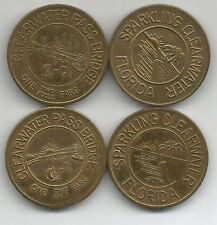 4 Clearwater, Florida Clearwater Pass Bridge One Two Axle Fare Tokens FL105C