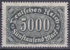 Alemania Deutsches Reich 1923 Mi. Nr. 256d número en OVAL Definitivos estampillada sin montar o nunca montada geprüft