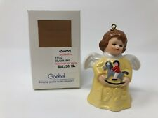 Goebel 1993 Angel Bell Christmas Tree Ornament 18th Edition Yellow Dress 51102