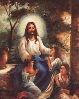Jesus Christ with Children in the Garden Christian Religious Art Print (16x20)