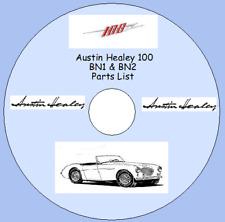 Austin Healey 100 SIX BN1 & BN2 Factory Parts List