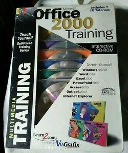 New In Box Microsoft Office 2000 Training 7 CD Tutorials Interactive CD-ROM Set