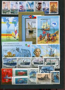 Kl. Sammlung Schiffe , meist o  ( 41714 )