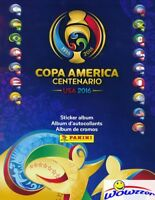 2016 Panini Copa America Centenario 64 Page Sticker Collectors Album-10 Stickers