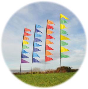 Spirit of Air Festival Pendant Banners 3.4m Flag Kit, Stake & Pole