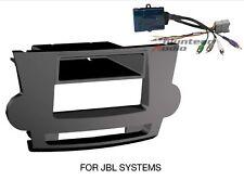 Toyota Highlander Car Stereo Radio Install Mount Panel Dash Kit BLACK JBLHARNESS