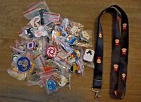 Disney World 25 Pin Trading Lot Lanyard Starter Set Tsum Tsum Black Minnie Mouse