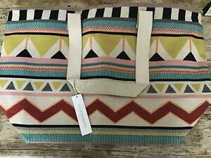 ACCESSORIZE BAG LULA AZTECH BEACH TOTE NEW WITH TAGS
