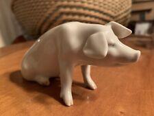 Vintage Royal Copenhagen Sitting Pig Piglet #1400 plate 4.23 Rare Buff Signed