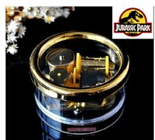 Gorgerous Circle in Gold Wind Up Music Box :  ♫ JURASSIC PARK  ♫