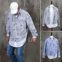 NewStylish Mens Fashion Scribble printed double layered round hem shirts