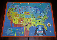 United States of America Picture Map Jigsaw Puzzle 100 Pieces Golden 1989