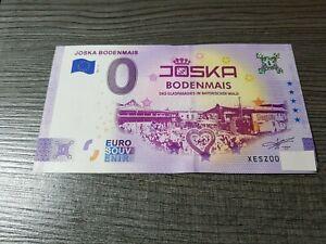 0 Euro Schein JOSKA  BODENMAIS 2021-2 Anniversary