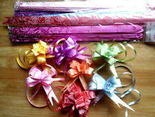 200pcs Mixed Colour12x200mm Pull Flower Ribbon Bow Gift Wrap