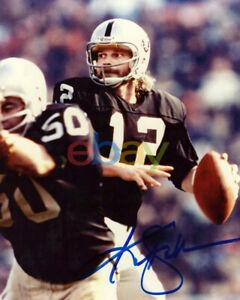 Ken Stabler Oakland Raiders Signed 8x10 Photo reprint