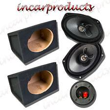 """FLI 6x9 """" 2 WAY 270W ALTOPARLANTI AUTO CON MDF 6x9 6 X 9"""" Speaker Box Enclosure COPPIA"""