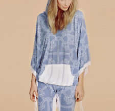 Wildfox Couture Harbor Knot Poncho Hoodie In Multi Size S