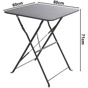 Gartentisch Metalltisch  Falttisch  Beistelltisch Klapptisch 60x60 cm Tisch C880