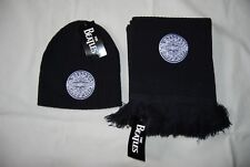 THE BEATLES EMBROIDERED SGT PEPPERS LONELY HEARTS LOGO NAVY SCARF & HAT SET NEW