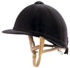 Just Togs Junior Show Jumper Velvet Riding Helmet w/Leather-look Straps