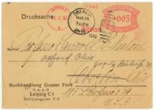 1930 Leipzig Germany slogan meter cancel Biblion - book dealer Gustav Fock cover