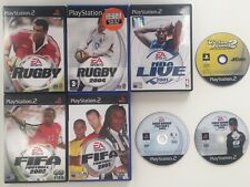8 Playstation 2 Sportspiele; Rugby, Fifa, NBA, Tiger Woods etc.