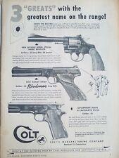 1949 Colt Government officers model match Target rifle revolver pistol gun ad