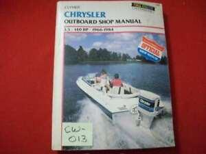 1966-1984 CHRYSLER OUTBOARD 3.5-140 HP CLYMER MARINE SERIES SHOP MANUAL #B750