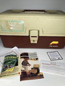 PLANO Fishing Tackle Box 6802 - 6800 Series -Tan and Brown w/original papers