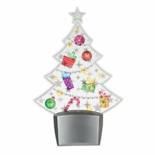 Flashing LED Tree NIGHTLIGHT Acrylic Electric Night Light Midwest CBK NEW 127581