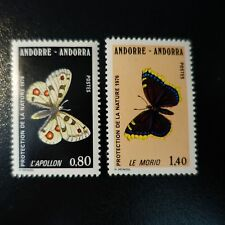 ANDORRA FRENCH N°258/259 PROTECTION NATURE BUTTERFLIES NEUF MNH