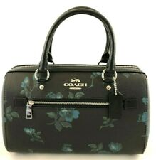 New Authentic Coach F89154 Satchel Victorian Floral Print Handbag Purse Blue