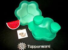 Tupperware Open House 24cup Chip N Micro Dip Bowl ~NLA Toucan TEAL GREEN