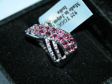 Lote 177 Rajasthan Granate + Diamante Anillo de plata esterlina sólida Talla L 1/2