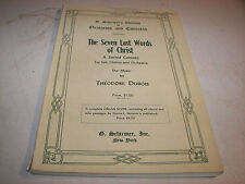 The Seven Last Words Of Christ Theodore Dubois Sheet Music Book Vintage 80 Pgs