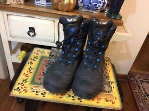 Columbia Omni-Heat Waterproof Black Winter Snow Boots 400grams Men's Size 7