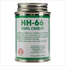 Rh Adhesives Br Hh-66 Pvc 4 oz Vinyl Cement Glue with Brush Bonds