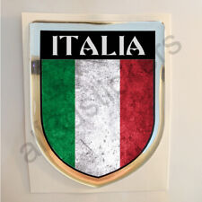 Italia Sticker Resin Domed Italy Stickers Flag Grunge 3D Adhesive Decal Gel Car