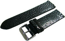Uhrenarmband Perl Roche Leder Uhrenband watch strap stingray leather blue 24mm
