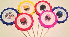 Power Rangers Customized Cupcake Toppers/Picks 12 count