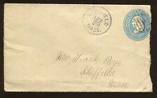 1879 Sheffield Massachusetts Postal Cover Benjamin Franklin US Stamp #U118