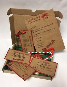 Personalised Christmas Eve Box A5 Magic Key Reindeer Food Polar Express Ticket B