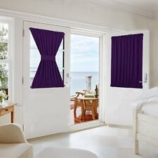 Front Door Panel Curtains French Sliding door Curtain One Piece W54 x L40-Inch