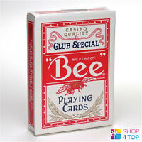 BEE STANDARD INDEX RED DECK POKER PLAYING CARDS MAGIC TRICKS USPCC NEW