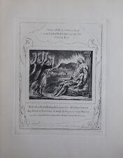 William BLAKE - Le bien et le mal - Gravure N&B - Livre de Job  - Bible #1902